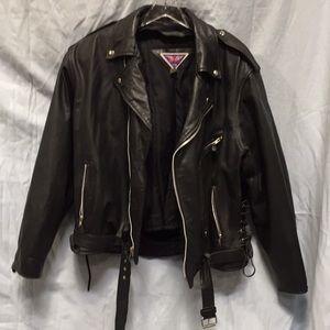Men's leather jacket. Soft